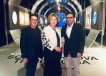 Пьеро Аддис, директор Reggia du Monza, Наталия Опалева, Массимилиано Лонго, советник по культуре города Монца
